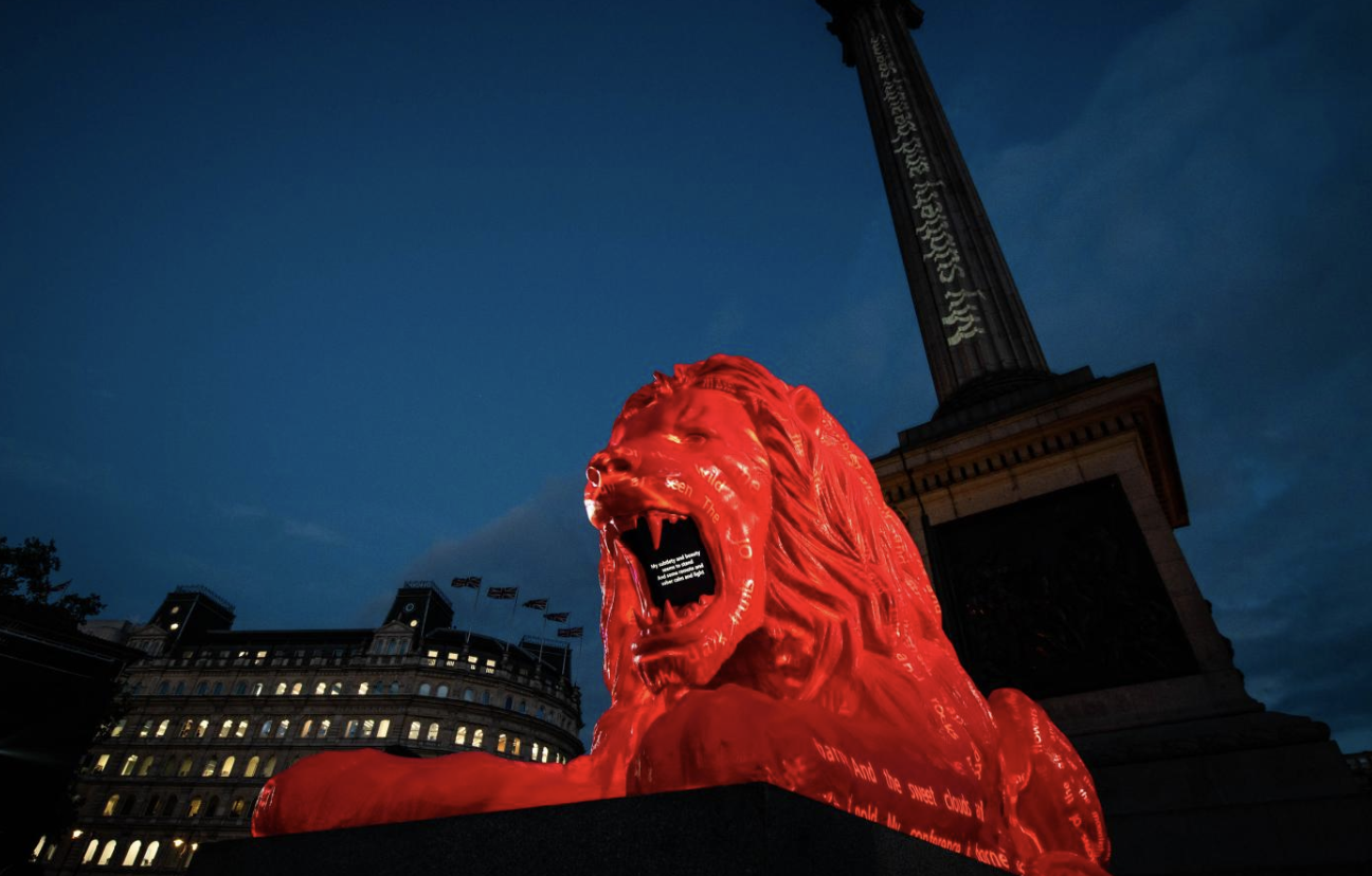 Eat Our Words: A Lion, Trafalgar Square, AI Poetry and Wordsmithie